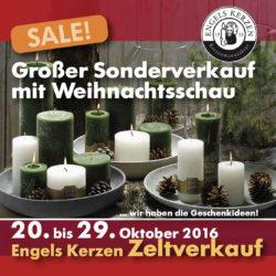 Sonderzeltverkauf Engels Kerzen HW 2016